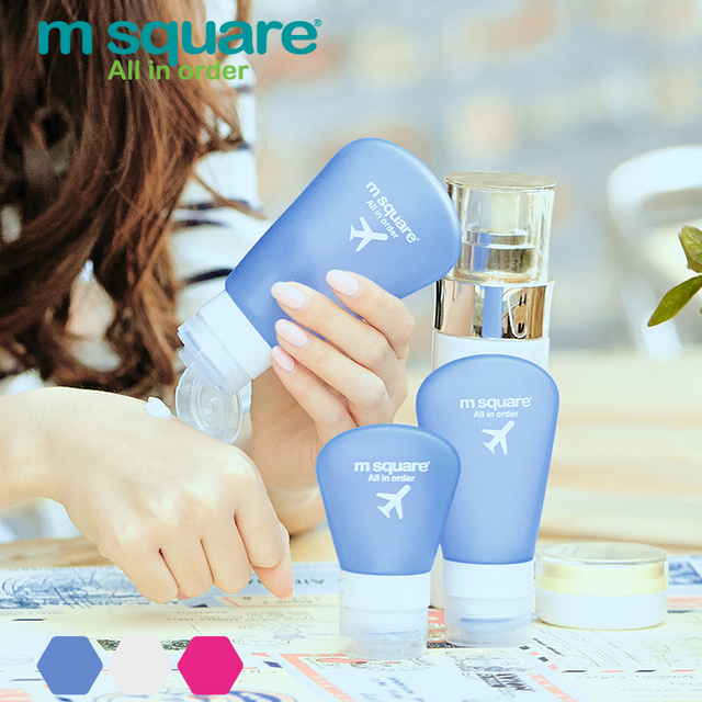 M Square Travel Accessorie For Empty Cosmetic Containers Plastic Squeeze Bottle Leak Proof Refillable Silicone Bottle Empty Tube