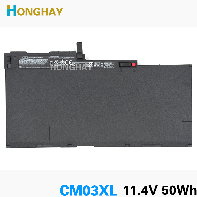 HONGHAY Original Laptop Battery for HP ZBook 14 E7U24AA EliteBook 840 850 G1 CM03XL CM03050XL HSTNN-IB4R HSTNN-DB4Q 716724-171 original laptop batteries for zo04xl hstnn cs8c zbook studio g3 v8n23pa
