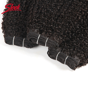 Image 5 - Sleek Afro Kinky Wave Curly Hair 100% Remy Brazilian Human Hair Weave Bundles Natural Color 1 Piece Free Shipping 10 28 Inches