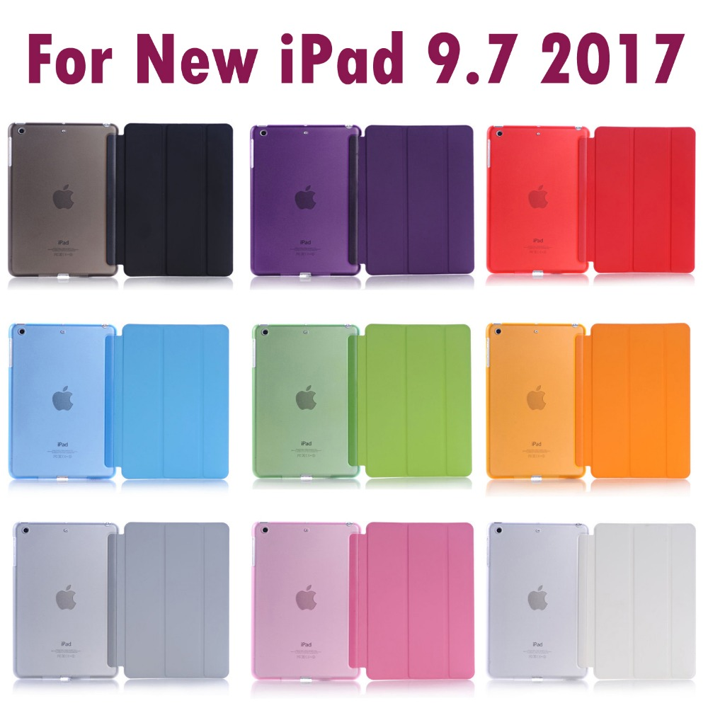 Para Apple Nuevo iPad 9.7 pulgadas 2017 y 2018 Sleeping Wakup Ultral Slim Funda de cuero inteligente para iPad A1822 A1823 A1893