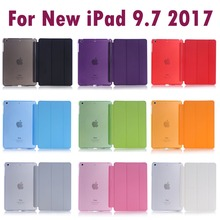 Voor Apple Nieuwe Ipad 9.7 Inch 2017 & 2018 Slapen Wakup Ultral Slim Leren Smart Cover Case Voor Ipad A1822 a1823 A1893