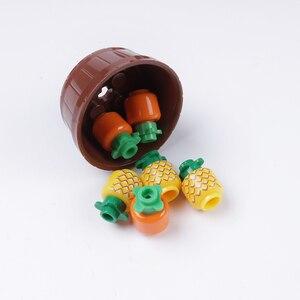 Image 5 - Cidade blocos de construção peças pão frutas peixe caixa comida brinquedos para legoe cidade amigos blocos acessórios peças blocos de construção brinquedos
