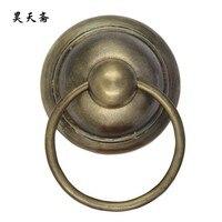 [Хаотянь вегетарианские] бронза дверной молоток античная медь дверной ручки тарелки ручка большой заказ HTA 105 дверной молоток