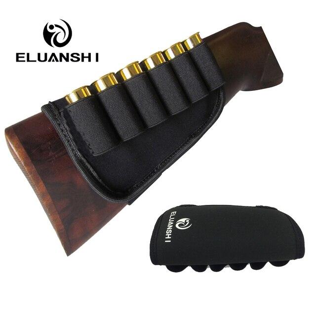 Engrosamiento previene deslizamiento elástico Buttstock 12 calibre caja de munición soporte bolsas de caza holsters pistola accesorios Nylon molle