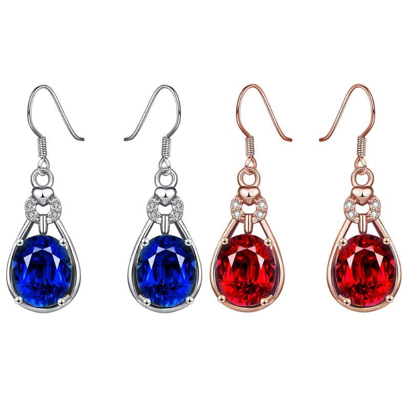 Colorful Flower Ear Ring Ear Stud Multicolor Flower Pendant Earrings for Women Vintage Drop Earring Wedding Accessories