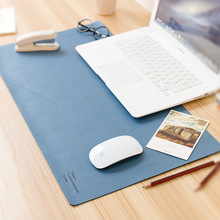 Classic rainbow fine PU leather double-sides office school desk pad stationery,large cute student desk organizer pad,632*348mm