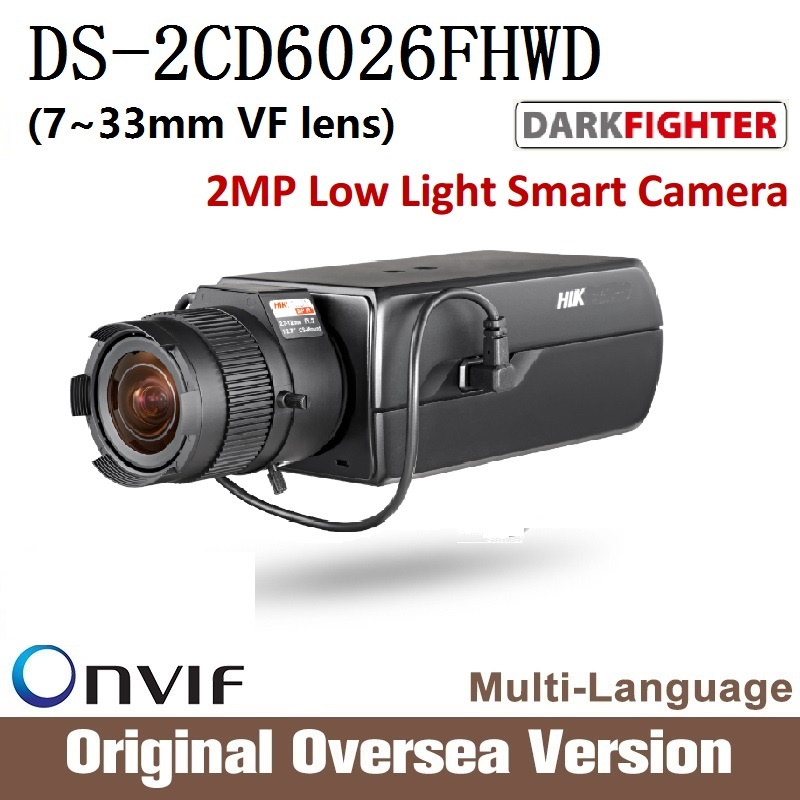 Hikvision  DS-2CD6026FHWD 7-33mm VF Original English version 2MP IP camera CCTV security camera Surveillance POE ONVIF cd диск fleetwood mac rumours 2 cd