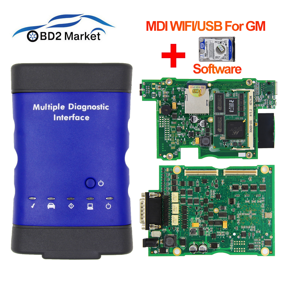 V2019.04 For GM MDI Multiple WIFI/USB OBD OBD2 Diagnostic Tool mdi scan tool With Multi Language obd 2 Auto Scanner as vxdiag-in Car Diagnostic Cables & Connectors from Automobiles & Motorcycles on