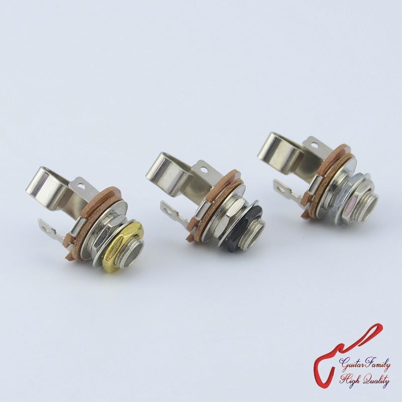 #0397 Made In Korea Up-To-Date Styling 1 Piece Guitarfamily Stereo Long Threaded Output Jack For Electric Guitar Bass