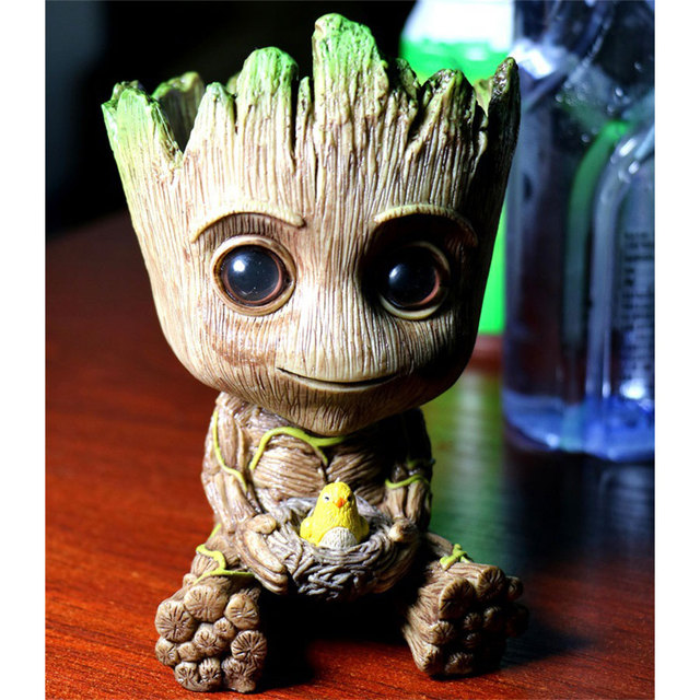 15cm Movie Guardians Of The Galaxy Flowerpot Action Figures Cute Groot baby grootted Model Toy Best Christmas Gifts Kids Hobbies