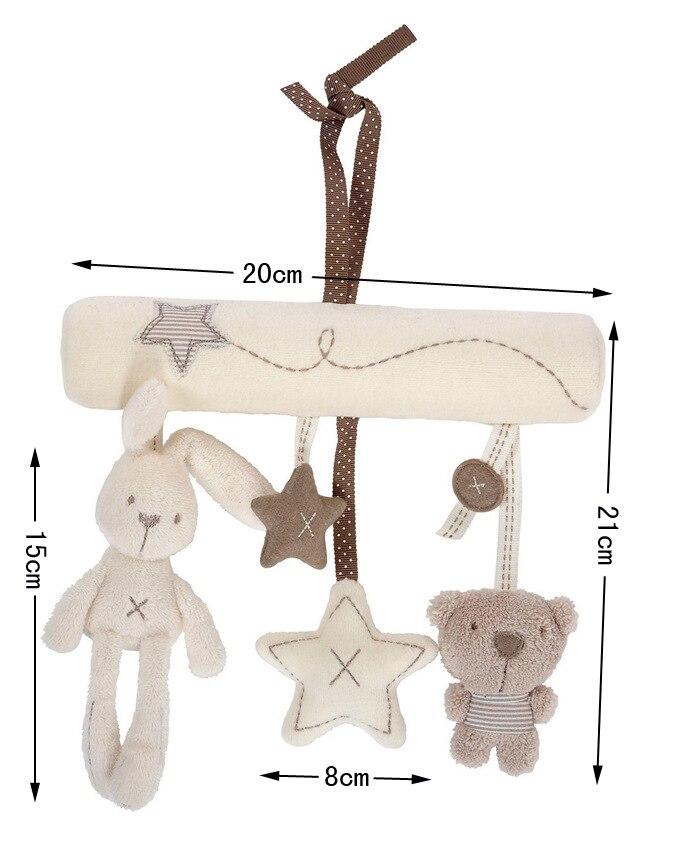 Babyfond Multi-Functional Musical Toy Rabbit, Baby Music Car, Hanging Bed, Seat Hanger, Plush Pendant Toy newborn baby toys