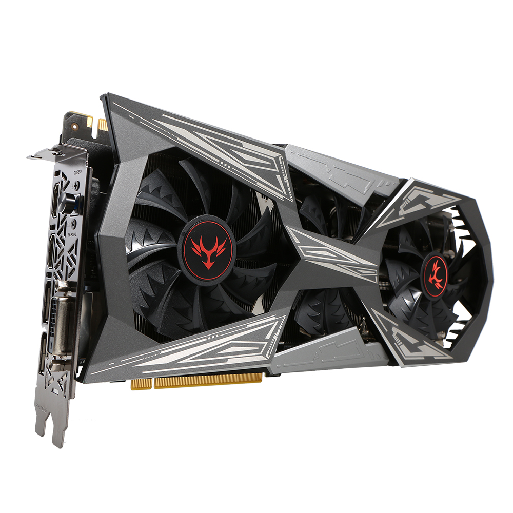 Красочные iGame NVIDIA GeForce GTX 1070ti вулкан X Топ Графика карты 1607/1683 мГц 8 г GDDR5 256bit pci-e 3.0 SLI VR Ready HDMI DP