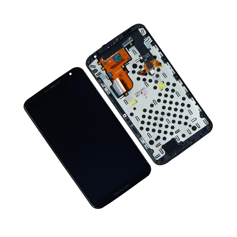 Écran LCD pour Motorola Nexus 6 XT1103 XT1100 LCD écran tactile numériseur assemblée avec pièces de réparation de cadre
