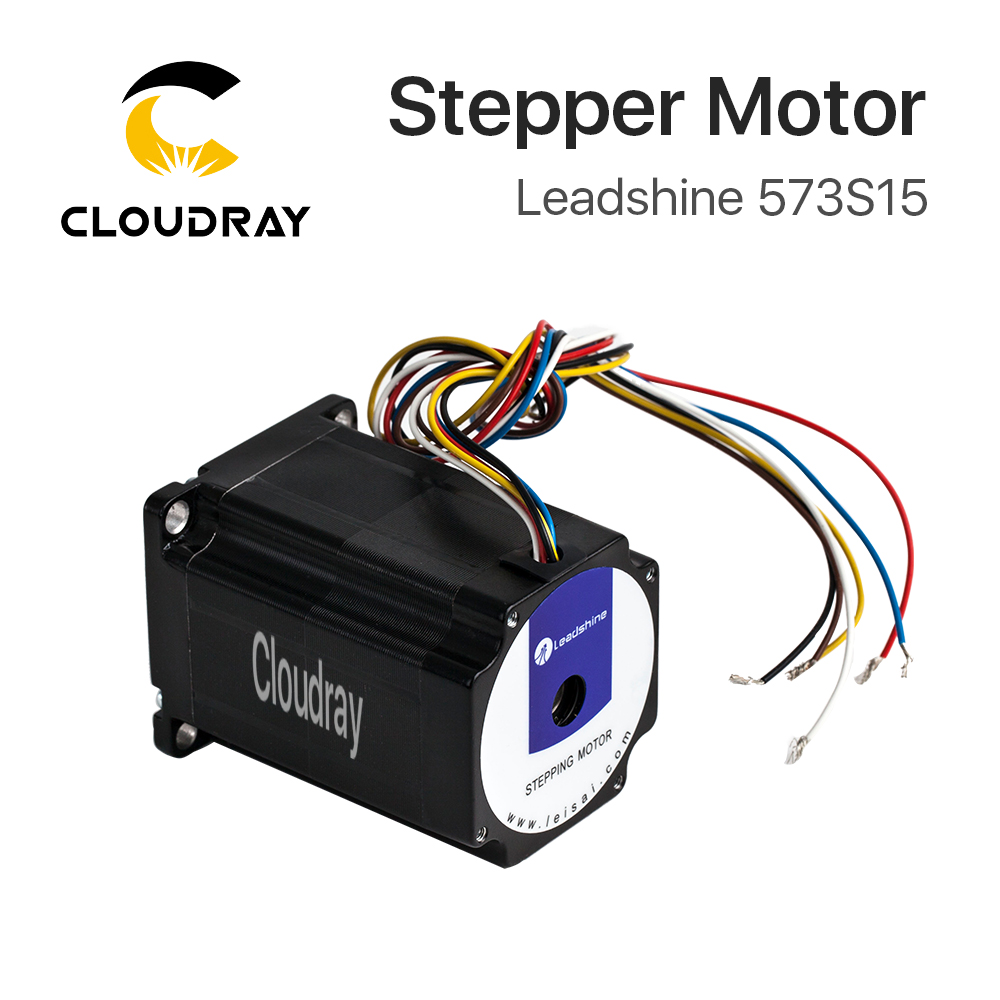 Cloudray Leadshine 3 phase Stepper Motor 573S15 for NEMA23 5A Length 76mm Shaft 8mm leadshine ha335 2 phase stepper motor drives 30vdc 3 5a