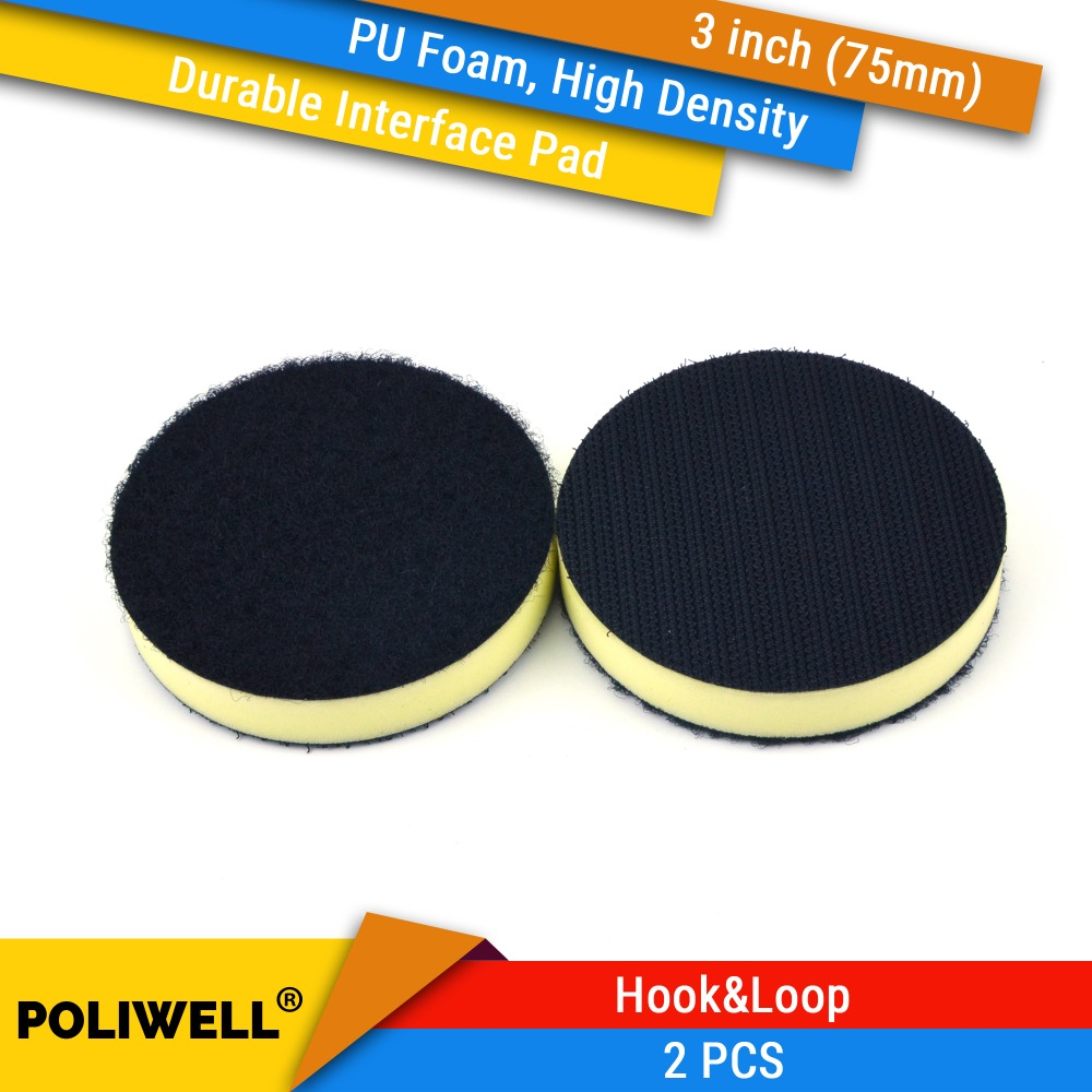 2PCS 3 Inch(75mm) Durable High Density PU Foam Surface Protection Interface Pads For 3