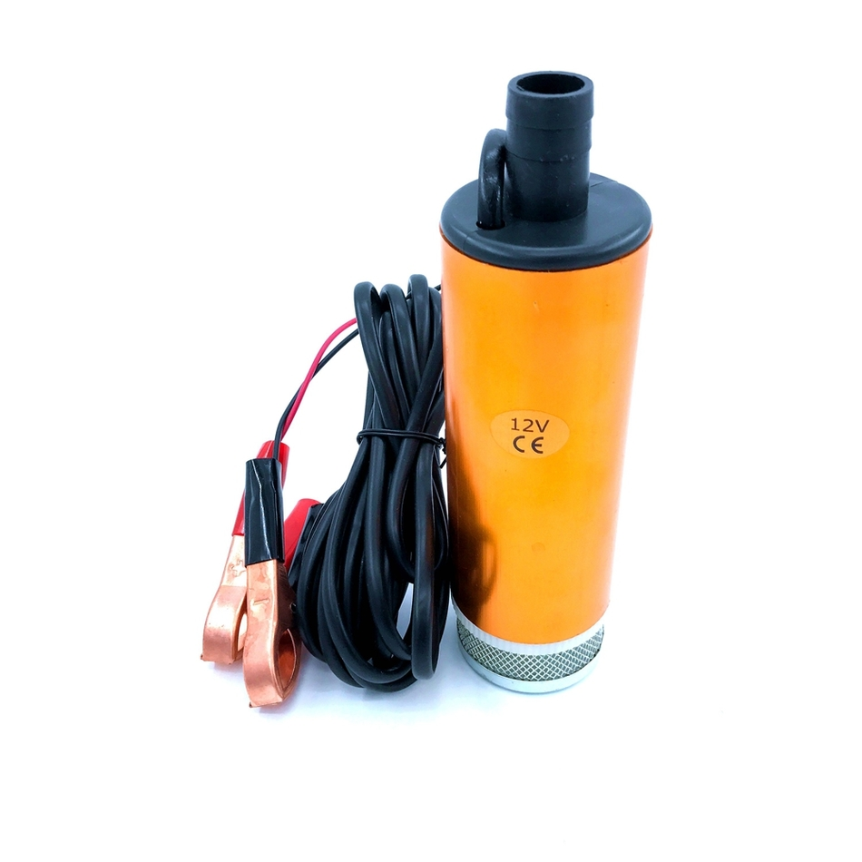 Submersible Diesel <font><b>Fuel</b></font> Transfer Water Oil <font><b>Pump</b></font> Diameter 51MM Aluminium Alloy DC 12V 24V With Switch And Filter Car Portable