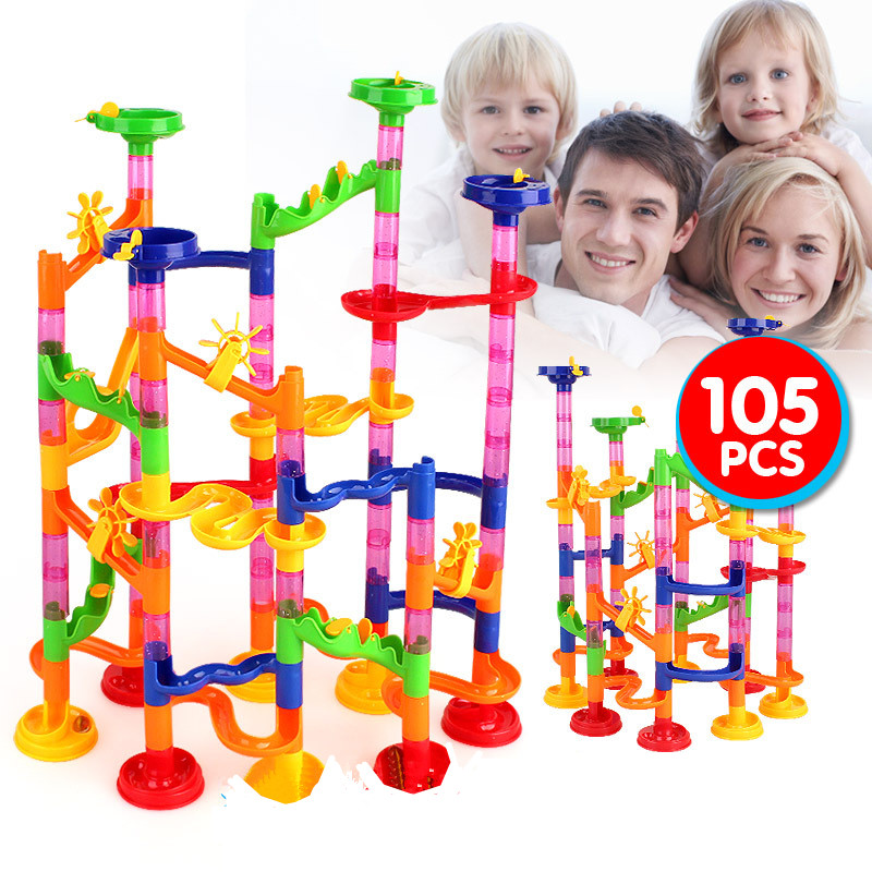 Building-Blocks Maze-Balls Track Educational-Toys Construction-Marble Race-Run Baby For Kids