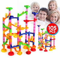 105PCS DIY Construction Marble Race Run Maze Balls Track Building Blocks Children Gift For Baby Educational Toys For kids