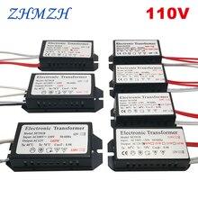 110V אלקטרוני שנאי 60W 120w 160W AC110V 130V כדי AC 12V אספקת חשמל עבור G4 הלוגן מנורת קריסטל חרוזים קוורץ נברשת