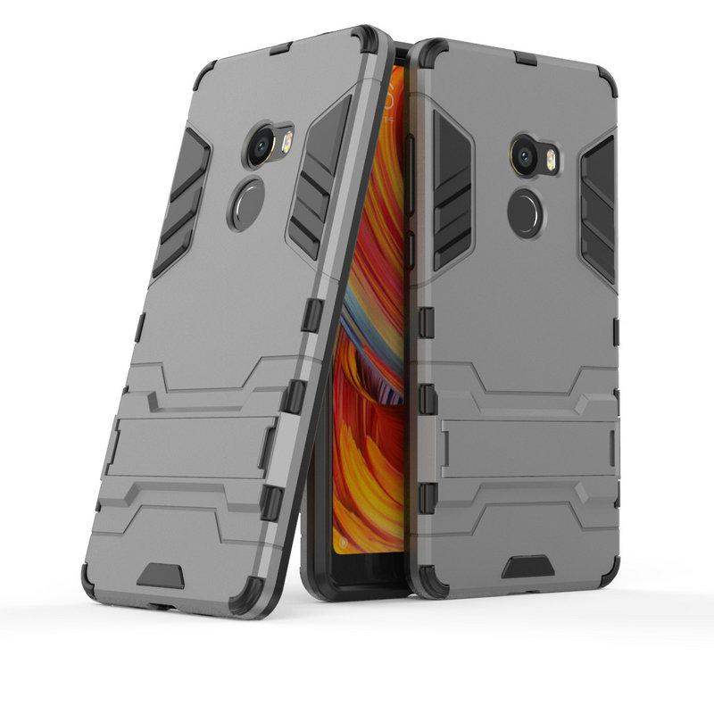 for <font><b>Xiaomi</b></font> <font><b>Mi</b></font> Mix2 Shockproof Stand Hard case for <font><b>Xiaomi</b></font> <font><b>Mi</b></font> <font><b>Mix</b></font> <font><b>2</b></font> Mix2 Evo 64GB 128 256GB Combo Armor shell iron Man Back cover image