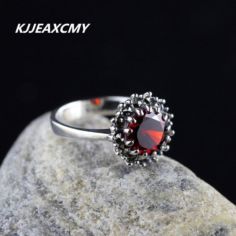 Kjjeaxcmy S925 серебряные ювелирные изделия оптом более индивидуальным женский серебряный гранат кольцо коготь