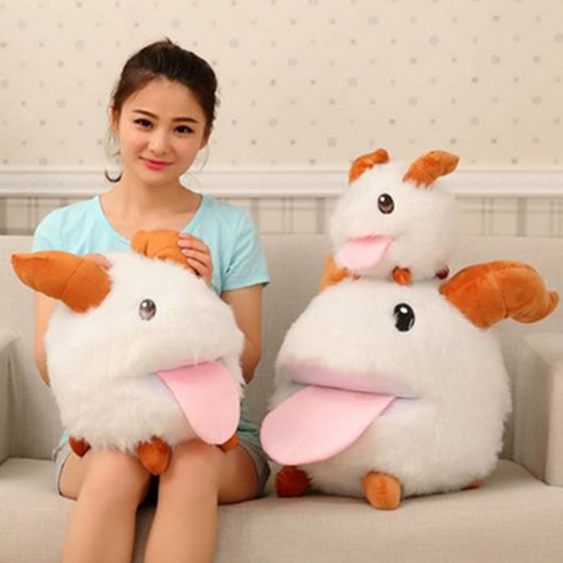 Fancytrader Hot Lol Toy Big 50cm Cute Stuffed Soft LOL PORO Plush Toy Pillow Kids Play Doll Cushion Baby Present free shipping hot sale cute stuffed plush poop pillow coussin caca poo cojines coussin emotion pillow cushion emoji pillows
