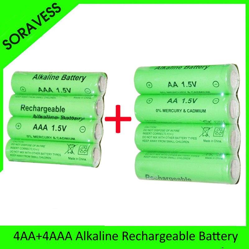 Soravess 2-16 Uds 1,5 V batería AA recargable AAA Alcalina 2000-3000mah para juguetes de linterna reloj reproductor MP3 reemplazar batería Ni-Mh 7 Uds NI-MH 14,4 V batería de alta calidad 3500mAh para panda X500 batería para Ecovacs Mirror CR120 aspiradora para dibia X500 X580