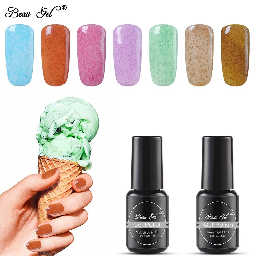 Beau гель 8 мл искусственного меха УФ-гель для ногтей Nail Art 3D гель лак Гибридный лак Краски Gellak искусственный мех эффект Гель-лак для полировки