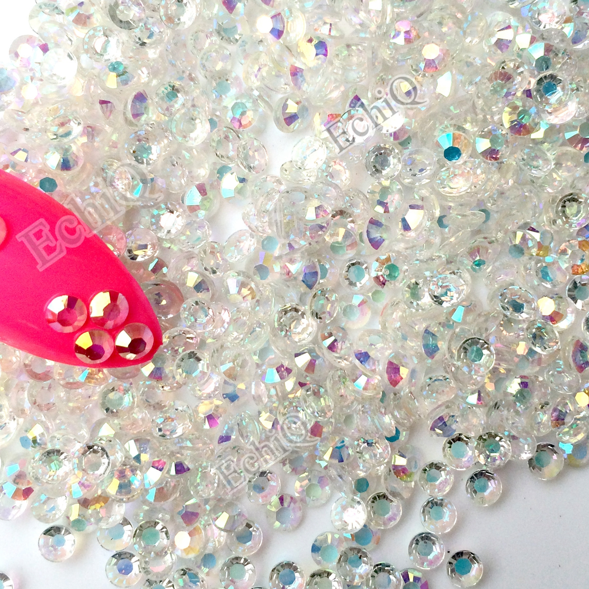 Мөлдір AB SS12 3мм ашық AB Nail Rhinestones 1000pcs / lot - Маникюр - фото 6
