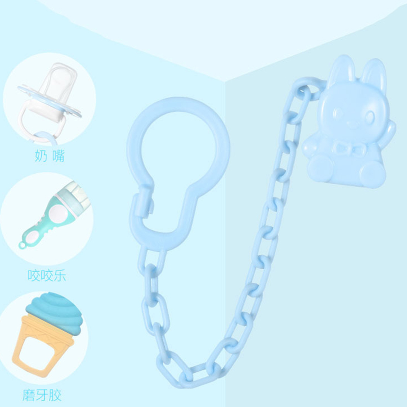 1 Pcs Plastic Baby Infant Toddler Dummy Pacifier Spring Soother Nipple Clip Chain Holder Strap