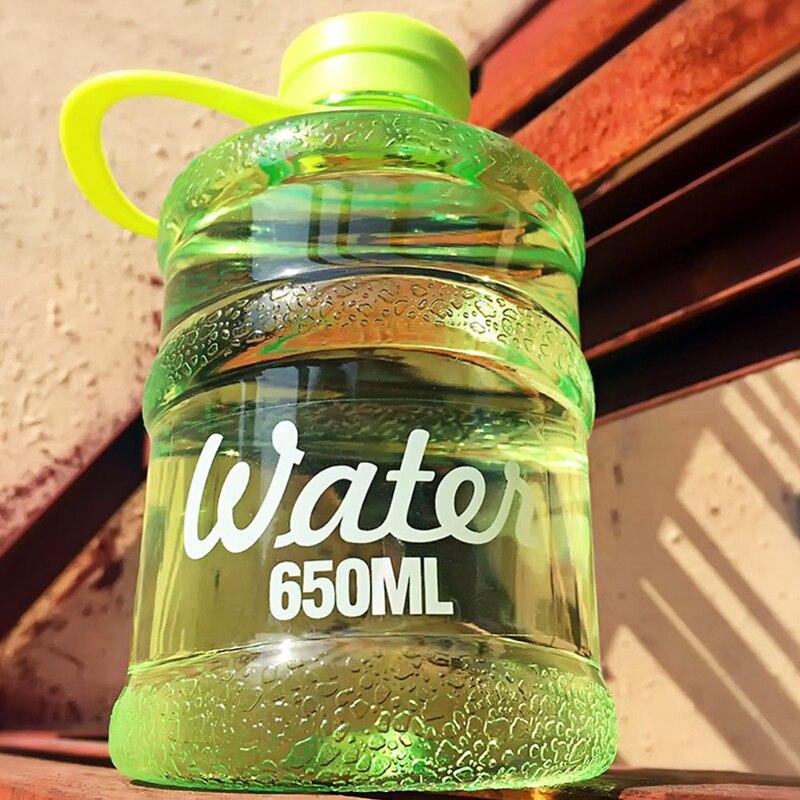 2PCS / LOT 650ml Kbelík minerální vody čistá voda kempování čiré sportovní láhev s vodou bpa zdarma botella de agua plegable nápojové láhve