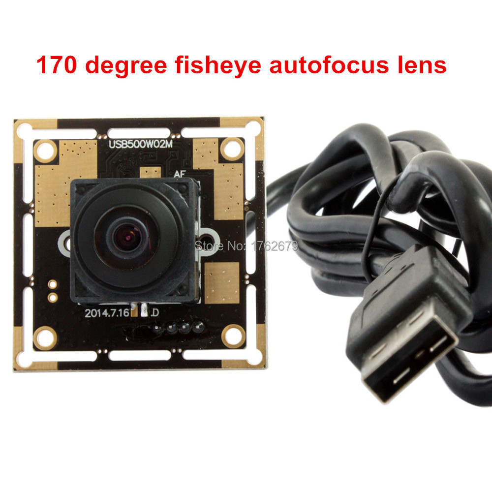 цена на 170 degree lens wide angle cctv secuirity UVC 5MP HD auto focus ov5640 min cmos usb camera module ELP-USB500W02M-AF170