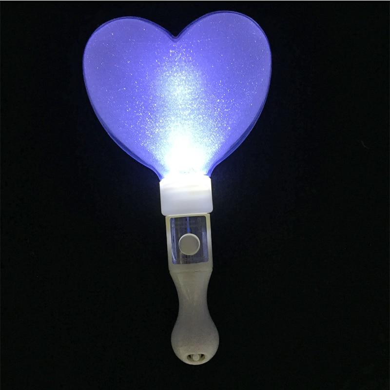 10pcs / lot 21cm LED oblik srca užaren svjetlo stick u mraku koncert - Za blagdane i zabave - Foto 6