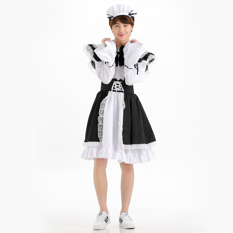 Mens Sexy Maid Role Play Costume Outfits