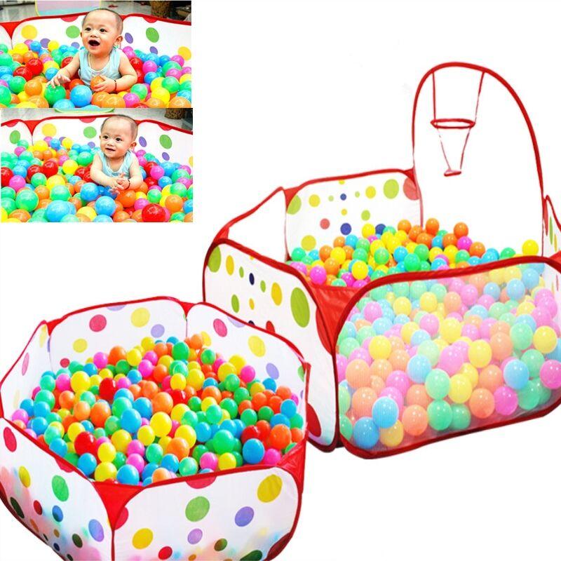 Children Indoor Play Tent without Balls Foldable Playpens Portable Baby Ball Pool Playpen Outdoor Safe Polka Dot Hexagon Playpen