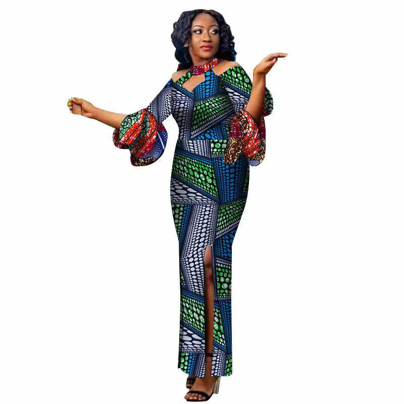 Дашики Африканский платья для женщин 2018 батик печати Хлопок африканская  одежда женское платье Пользовательские одежда Базен b8d84a98e4d