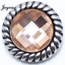 ФОТО Jaynalee Snap BraceletBangles Ginger 18mm Metal Snap Button Charm Rhinestone Styles Button Snaps Jewelry GS1208141