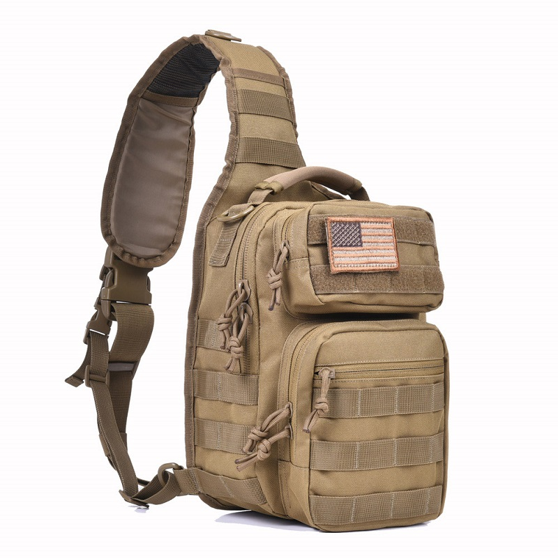 REEBOW TACTICAL Rover Shoulder Sling Bag Pack Military Backpack Molle Assault Range Bag Everyday Carry Diaper Day Pack Small