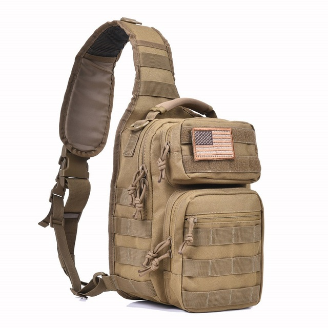 Reebow Tactical Rover Shoulder Sling Bag Pack Military Backpack Molle Assault Range Everyday Carry Diaper