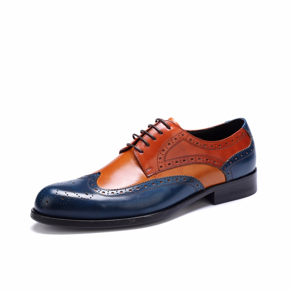 Hot 2019 Spring Big Size Genuine Leather Mens Shoes British Popular Male Business Casual Dress Shoes Breathable Bullock FlatsHot 2019 Spring Big Size Genuine Leather Mens Shoes British Popular Male Business Casual Dress Shoes Breathable Bullock Flats