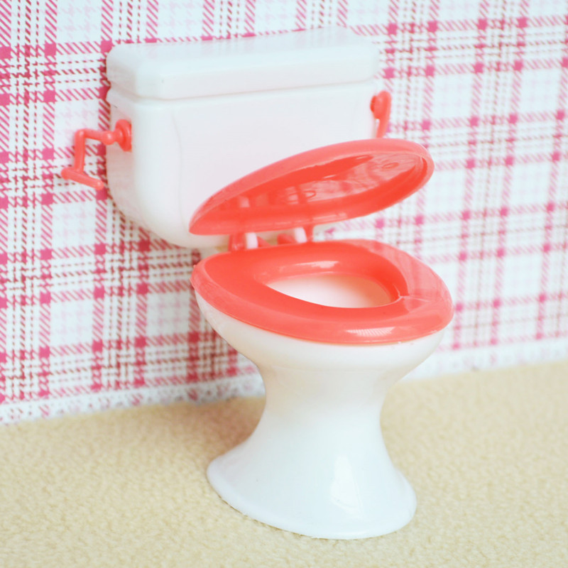 Doll toilet and Baby telephone small princess small toilet white toy accessories for simulation