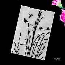 2017 New Arrival Scrapbook Reed Design DIY Paper Cutting Dies Scrapbooking Plastic Embossing Folder fd087
