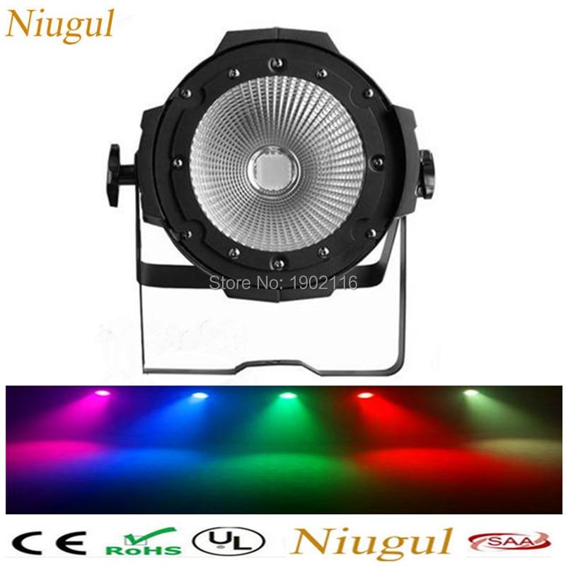 Niugul Professional Stage Lighting/100W COB LED Par Can/RGBW color DMX 100w COB LED Par /LED DMX Stage Light /DJ Disco Lighting