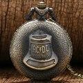 Infernos ACDC Sino antigo Steampunk Quartzo Relógio de Bolso Colar Pingente Retro Das Mulheres Dos Homens de Presente de Natal
