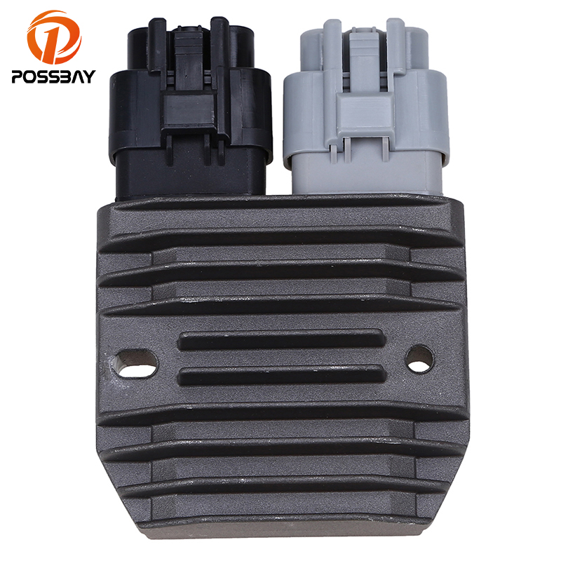 POSSBAY Motorcycle Aluminum Voltage Regulator Rectifier for Polaris 2011-2014 RZR <font><b>800</b></font> & RZR S <font><b>800</b></font> <font><b>UTV</b></font> ATV Motorbike Rectifier image
