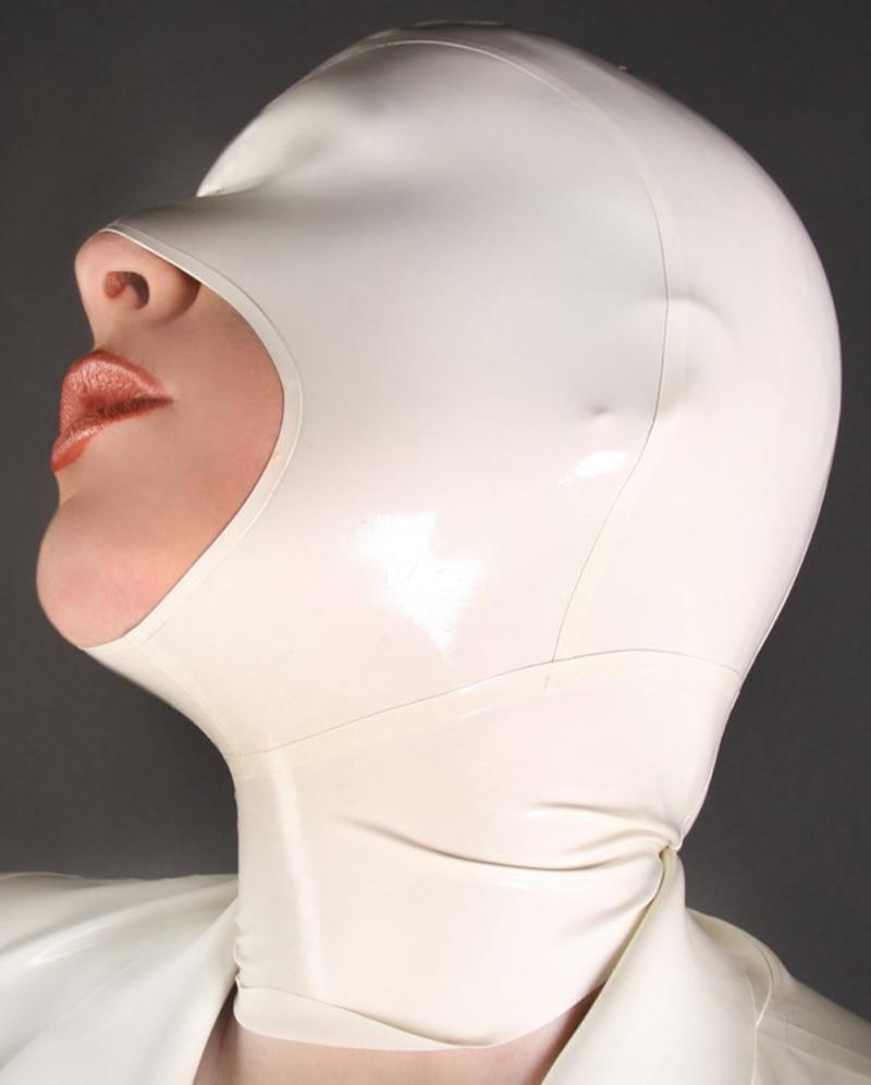 Buy New Arrive Latex hood mask Back Zipper Fetish Rubber Mask Open Mouth plus size Hot sale Customize service