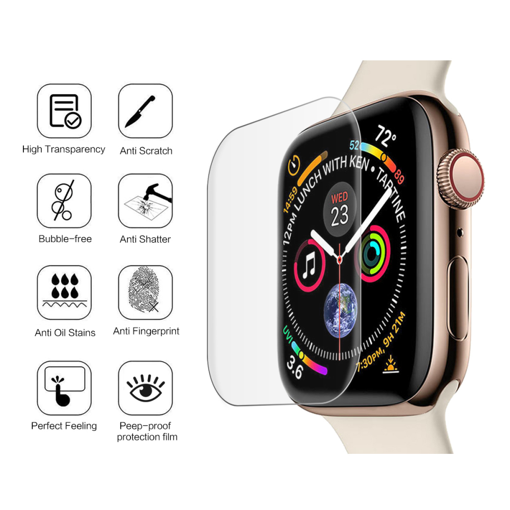 Watchband Accessories Tempered Glass For Apple Watch Series 4 40mm 44mm Screen Protector Explosion Proof Glass Scratch Cover цена и фото