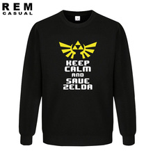 2016 new The Legend of Zelda keep calm and save Zelda game geek nerdy  men homme high quality Hoodies, Sweatshirts