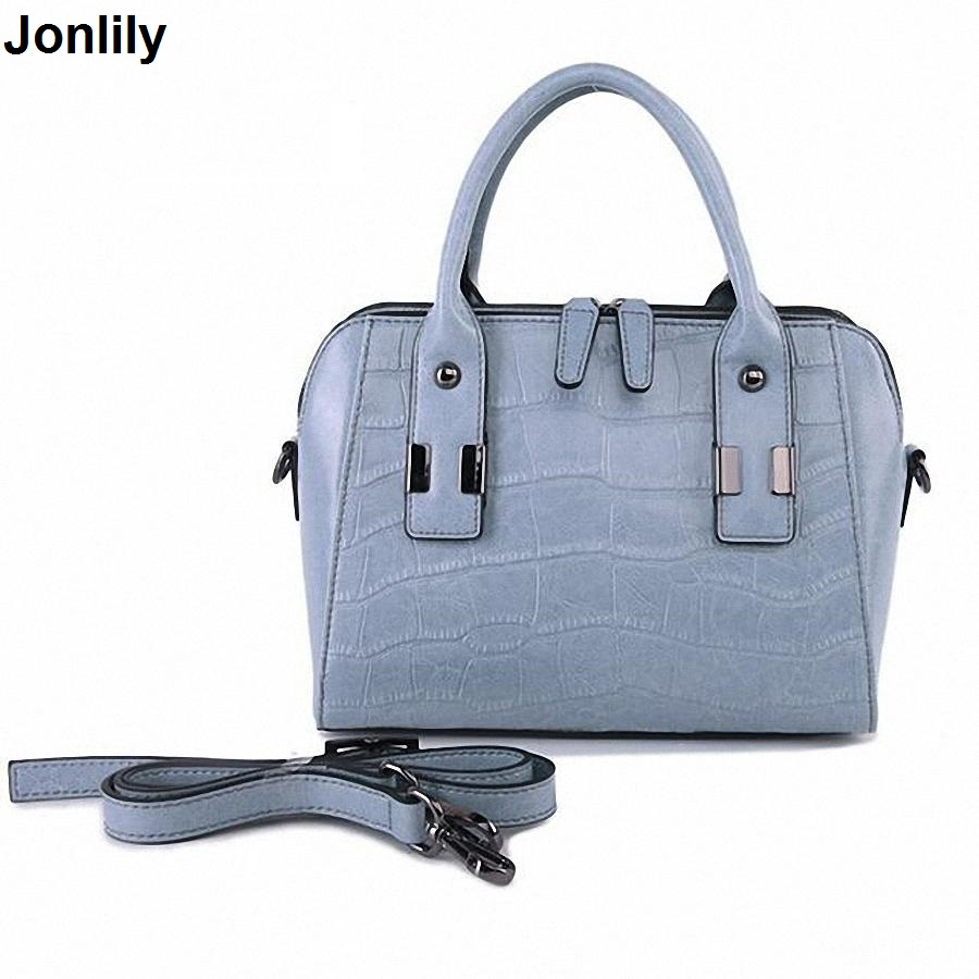 Large genuine Leather Tote Bag Luxury Women Shoulder bags crocodile Women Bag Brand Handbag Bolsa Feminina LI-170 shengdilu brand genuine leather handbag 2018 new women tote crocodile shoulder messenger bag bolsa feminina free shipping
