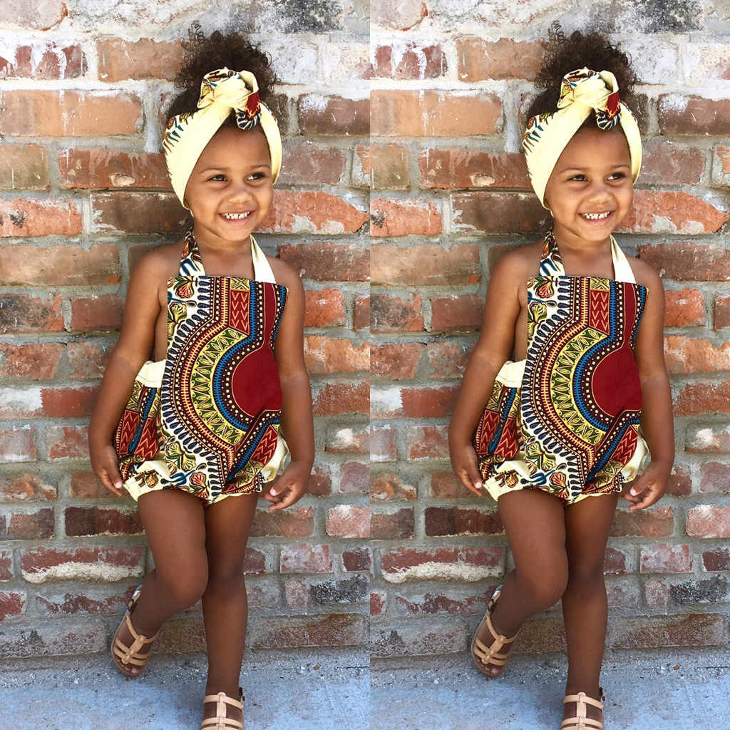 MUQGEW Baby Girl clothes Bohemia Style Africa Kids Strap Romper Jumpsuit 2019 Casual Clothes costume for girls roupas menina